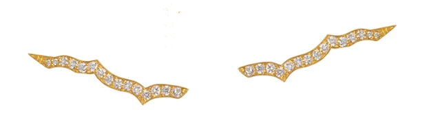 Diamond Lotus bar slider earrings (1)